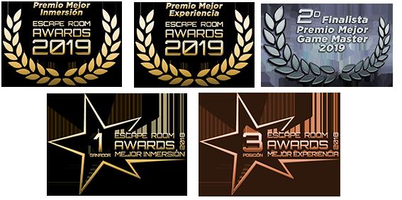 Mejor Inmersión 2018 y 2019, Mejor Experiencia 2018 y 2019, 2º Puesto Mejor Game Master 2019